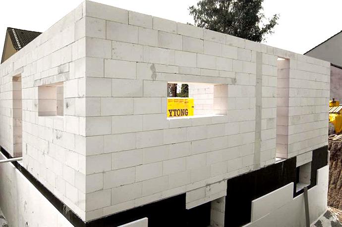 Стены из автоклавного газобетона