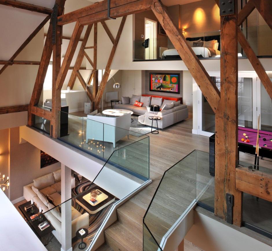 Необыкновенная планировка: красивый интерьер дома
