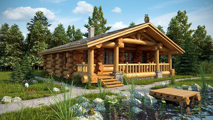 Рубленный дом одноэтажный. Проекты рубленных домов