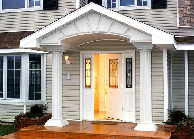 Входные двери для загородного дома фото