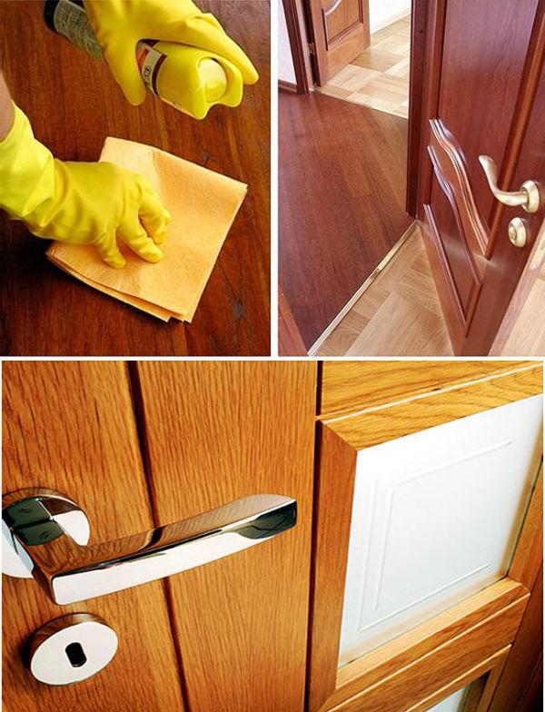 Уход за межкомнатными деревянными дверями
