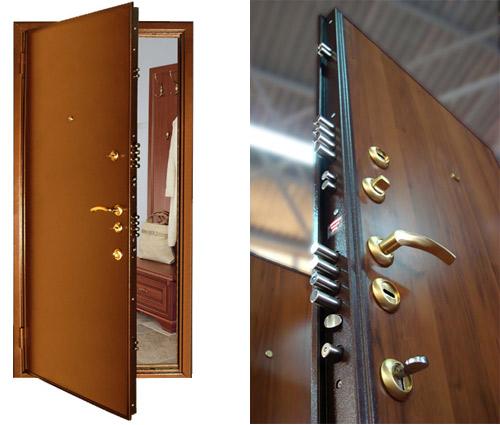 Особенности отделки металлических дверей