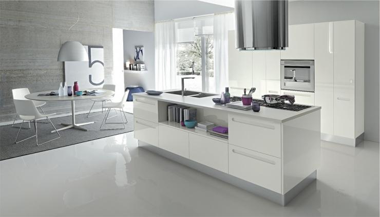 Открытая кухня – необычная концепция кухонной мебели