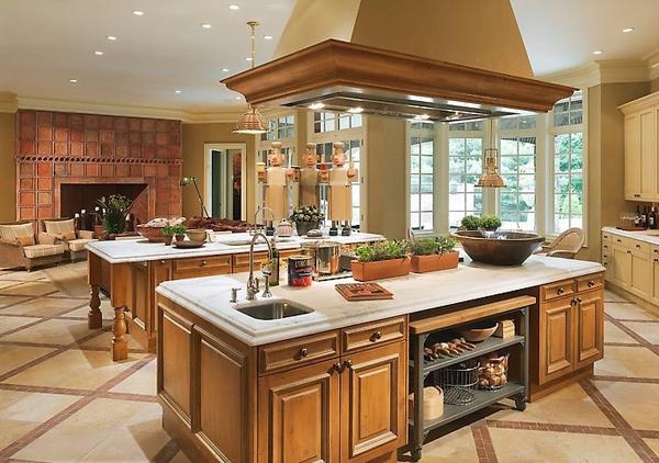 Визуальные типы кухонной мебели: открытая, двухсторонняя, прозрачная, нейтральная