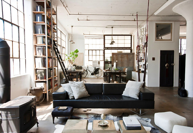 Фотообзор интерьера: квартира в стиле лофт в Нью-Йорке