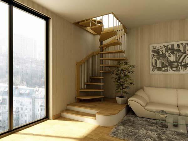 Винтовая лестница для дома - стилистика и конструкция