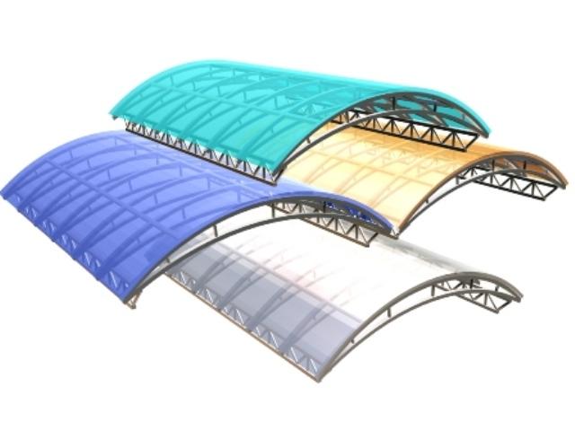 Навес из поликарбоната - основные преимущества материала