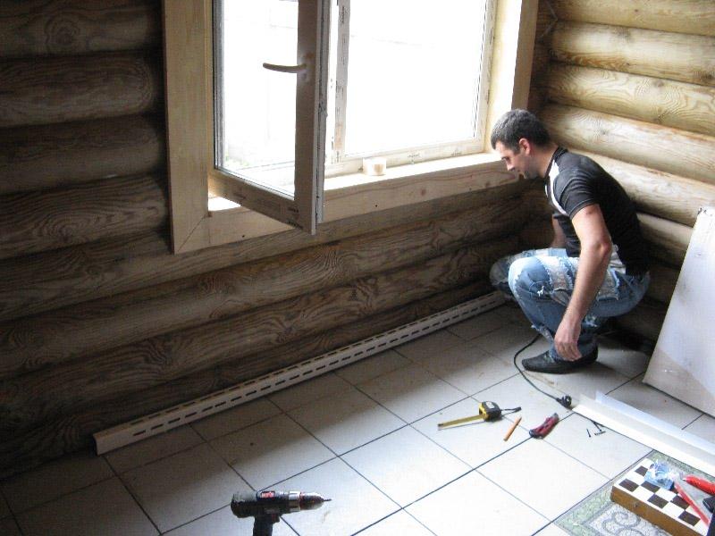 Плинтусное отопление в доме: как это работает