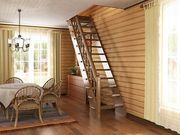 Основные типы деревянных лестниц