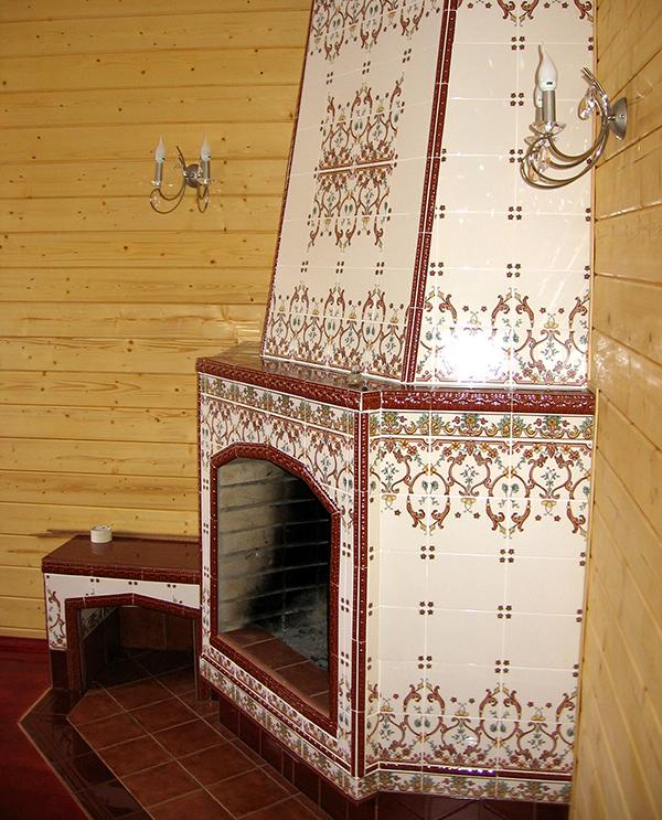 Камин в старом русском стиле