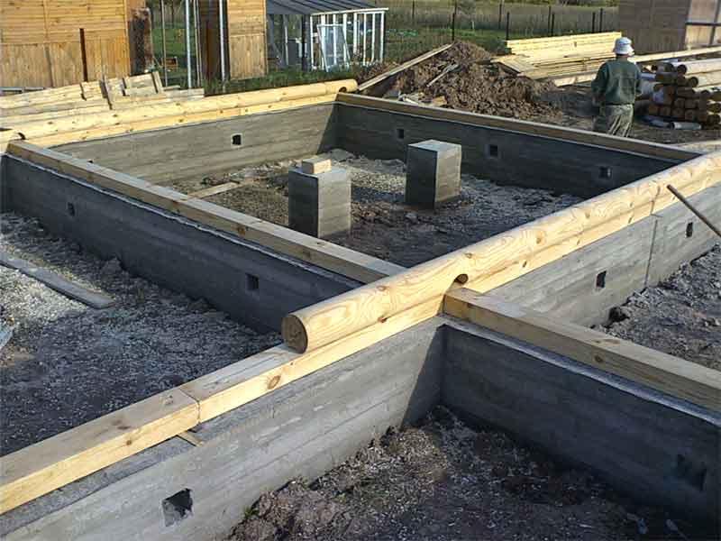 Сборный ленточный фундамент - особенности строительства