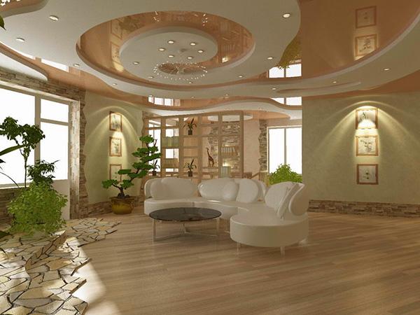 Подвесной потолок дома: реечные и гипсокартонные потолки