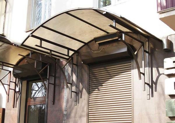 Круглые формы крыш из поликарбоната
