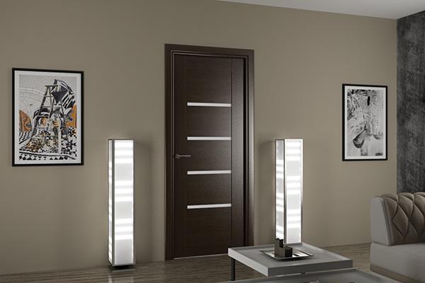 Межкомнатные деревянные двери в интерьерах квартир