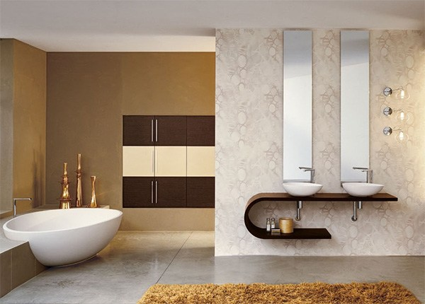 Цельные советы, как увеличить ванную комнату