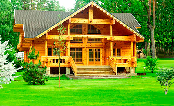 Дома из клееного бруса - преимущества материала