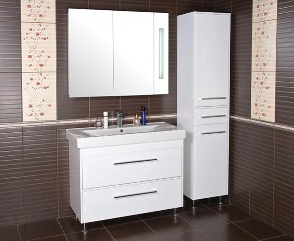 Меблировка небольшой ванной комнаты