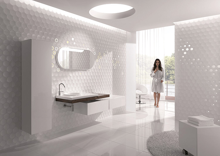 Обман зрения: декоративные панели и плитка в интерьере
