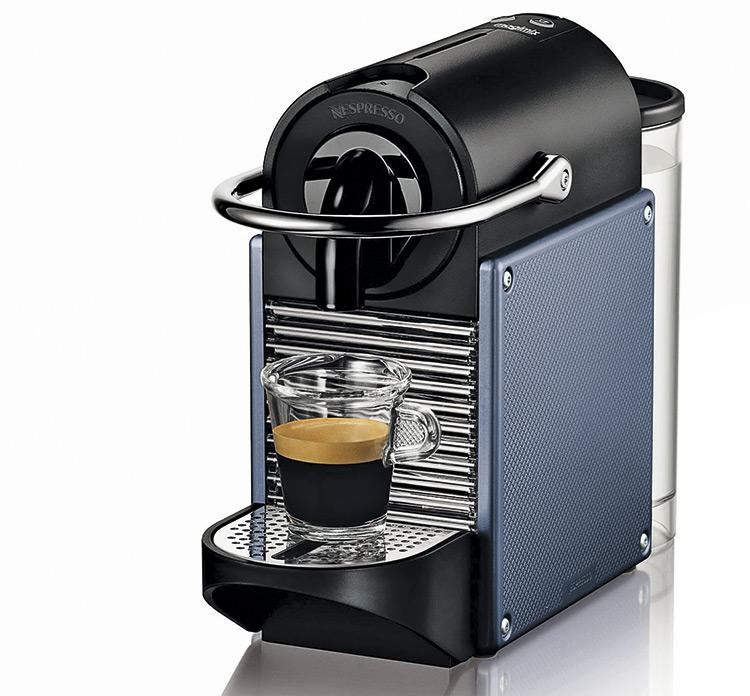 Капсульная кофеварка NESPRESSO PIXIE, дизайнеры Antoine Cahen, Philippe Cahen, NESTLE NESPRESSO