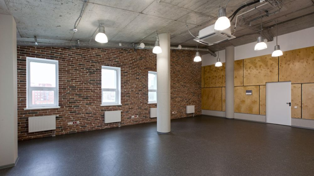 Офис в стиле лофт, бетонный лофт