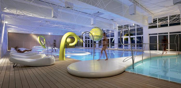 Водный мир: интерьер аква-зоны в отеле Park Hotel Ai Cappuccini