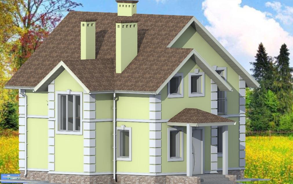 Проект маленького дома Кипарис в коттеджном городке Grand Villas в Ворзеле