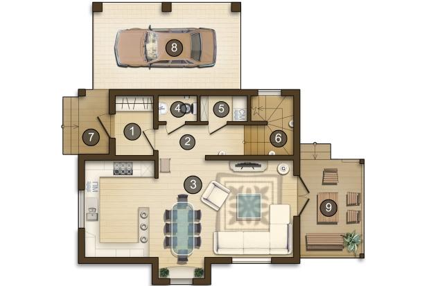 планировка небольшого дома