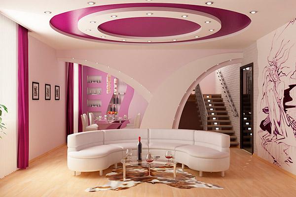 Современные варианты отделки потолков
