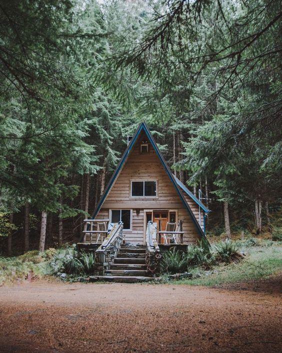 Деревянные А-образные дома