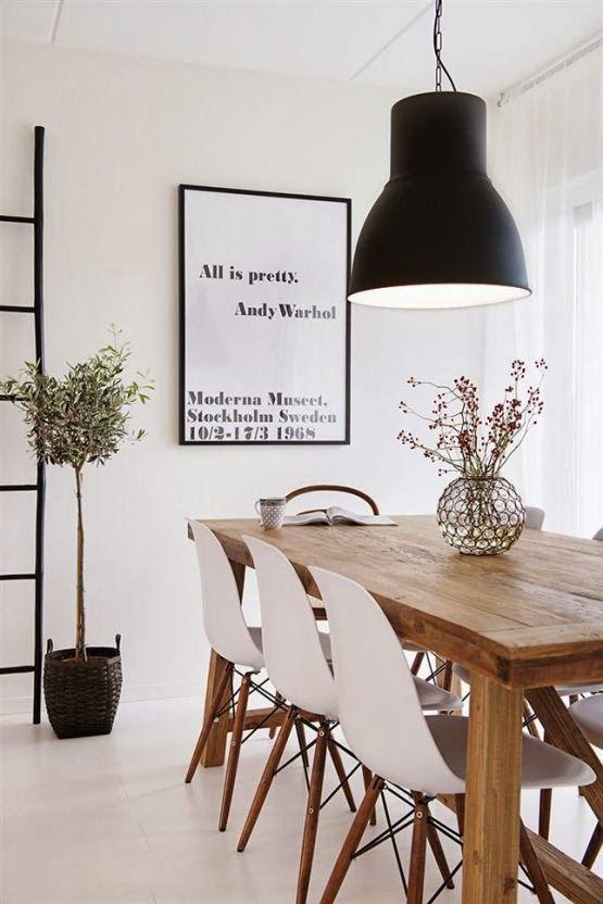 деревянные столы - фото