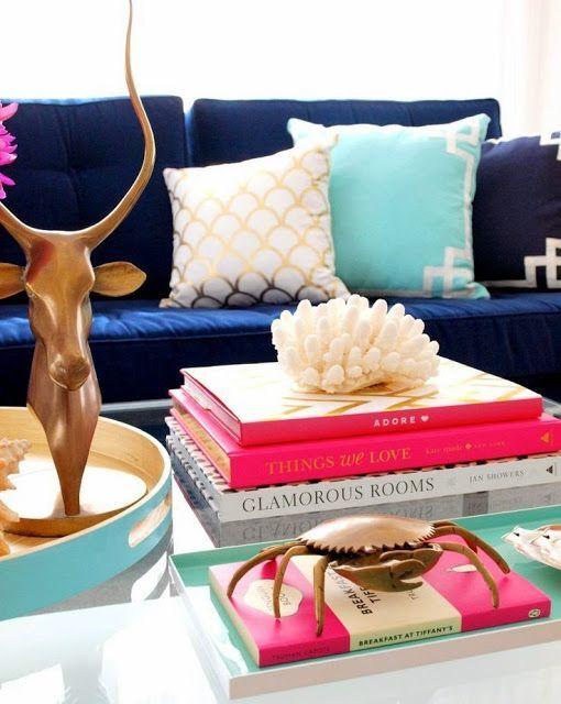 Синий и розовый в интерьере