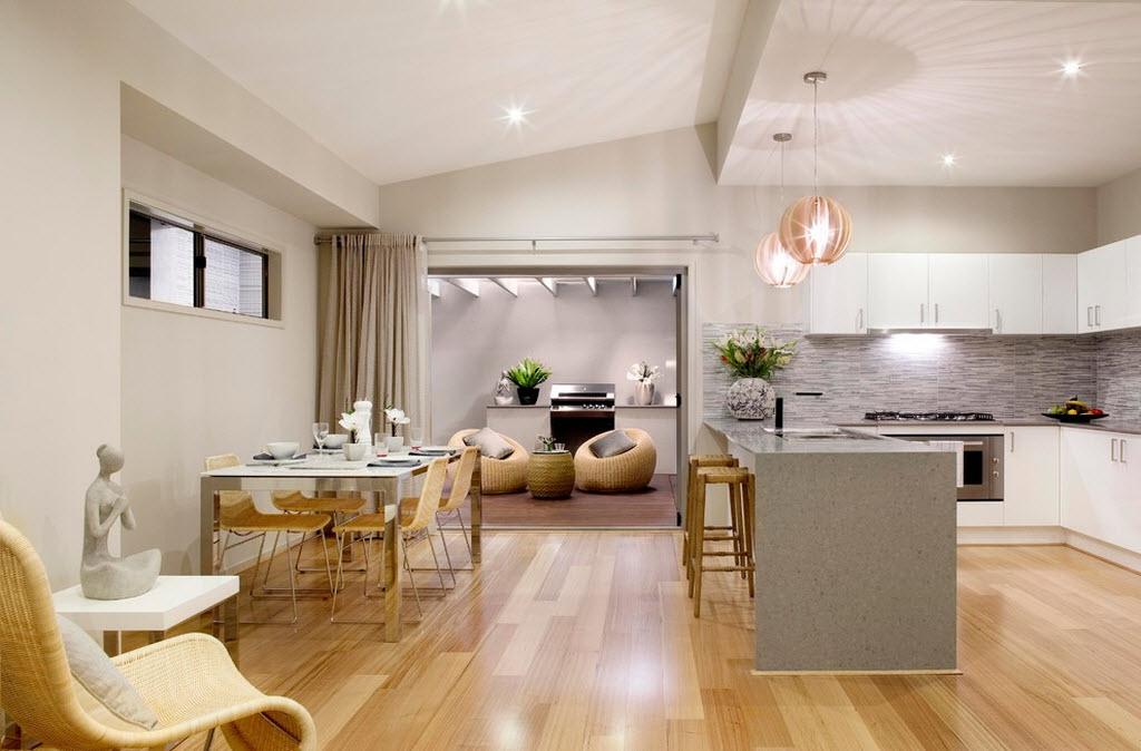 Освещение в кухне и гостиной